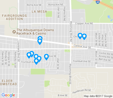 map of Trumbull Village apartments for rent