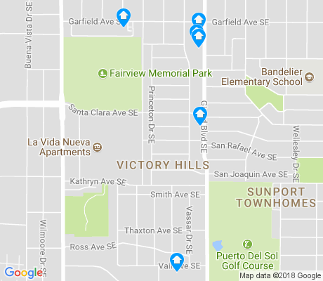 map of Victory Hills apartments for rent