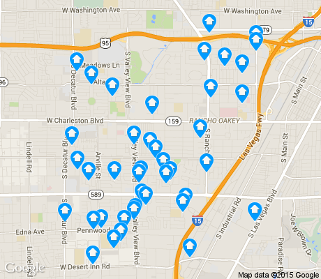 map of Rancho Charleston apartments for rent