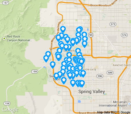 map of Summerlin North apartments for rent