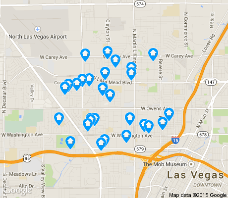 map of West Las Vegas apartments for rent