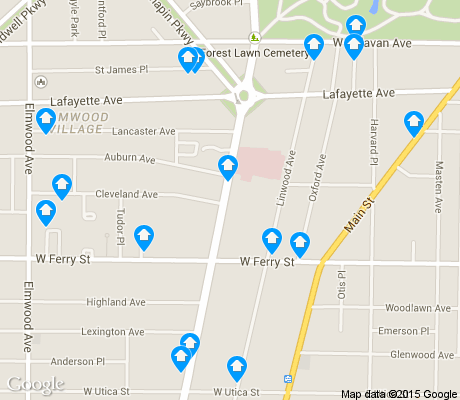 map of Delaware-West Ferry apartments for rent