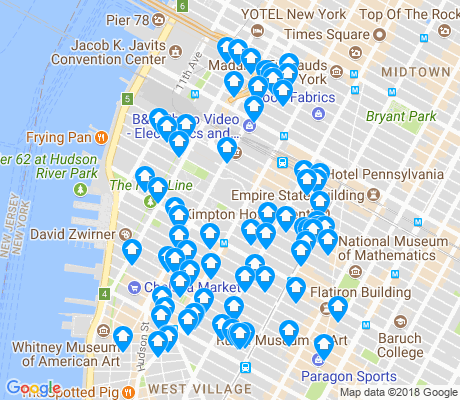 map of Chelsea apartments for rent