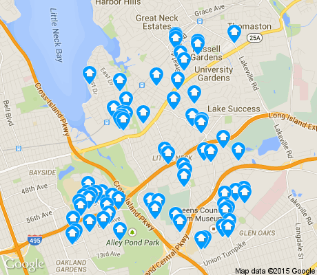 map of Douglaston/Little Neck apartments for rent