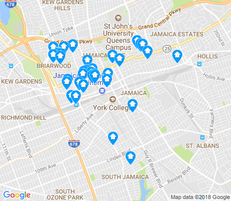 map of Jamaica apartments for rent