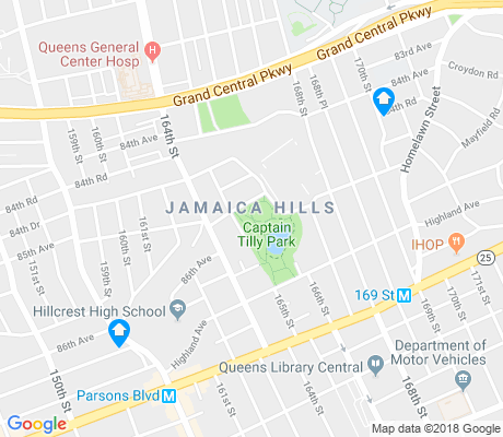 map of Jamaica Hills apartments for rent