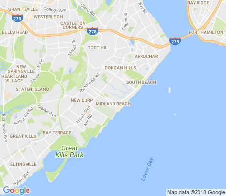 map of Midland Beach apartments for rent