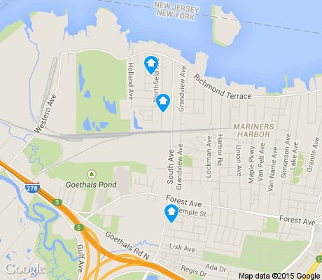 map of Port Ivory apartments for rent