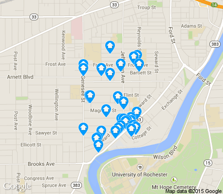 map of Genesee - Jefferson apartments for rent