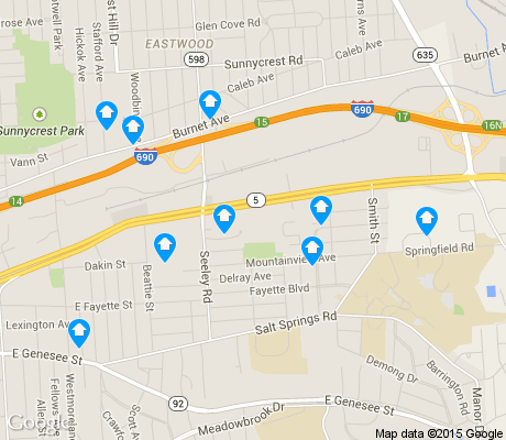 map of Salt Springs apartments for rent
