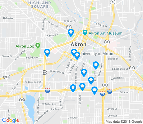 Highland Square Akron >> Downtown Akron Apartments for Rent and Rentals - Walk Score