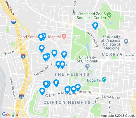 map of CUF apartments for rent