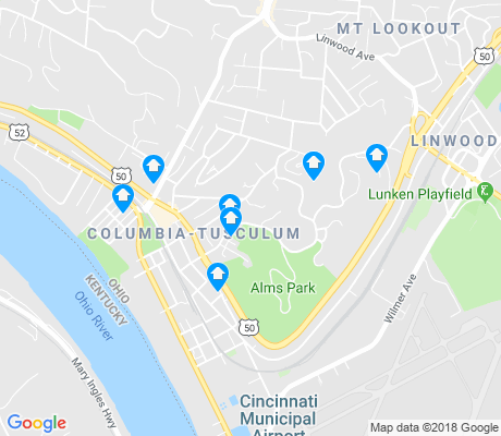 map of Columbia-Tusculum apartments for rent