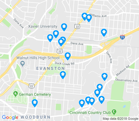 map of Evanston apartments for rent