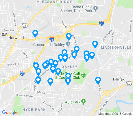 map of Oakley apartments for rent