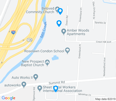 map of Roselawn apartments for rent