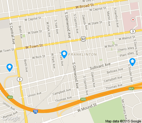 map of Franklinton apartments for rent