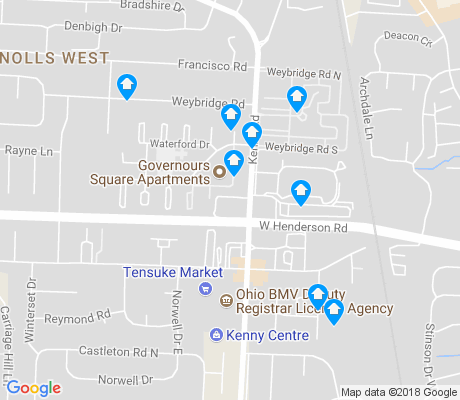 map of Governours Square apartments for rent