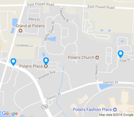 map of Polaris North apartments for rent