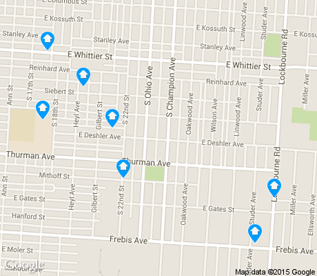 map of South Side CAN apartments for rent