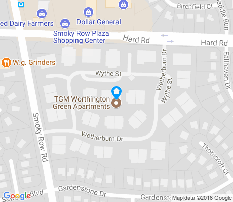 map of Worthington Green apartments for rent