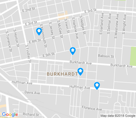 map of Burkhardt apartments for rent