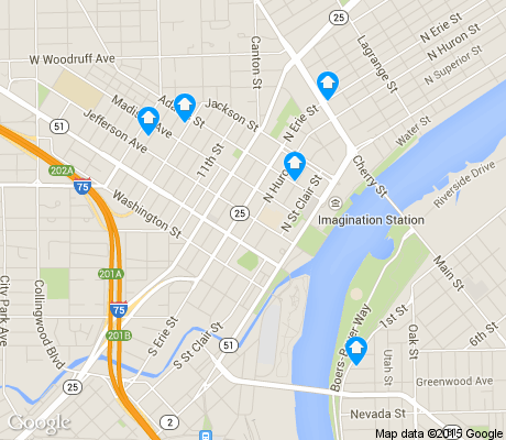 map of City Center apartments for rent