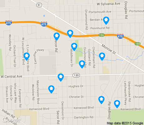 map of West Gate apartments for rent