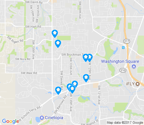map of South Beaverton apartments for rent