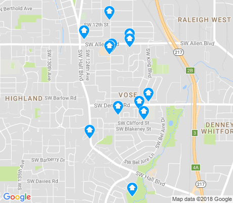 map of Vose apartments for rent