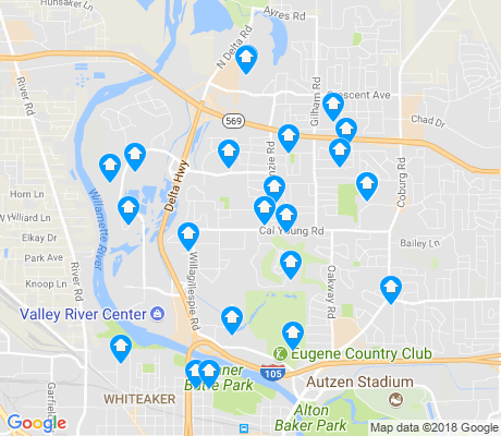 map of Cal Young apartments for rent