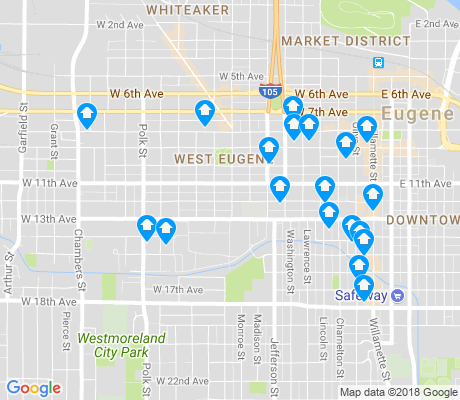map of Jefferson Westside apartments for rent