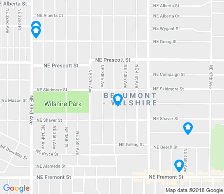 map of Beaumont-Wilshire apartments for rent