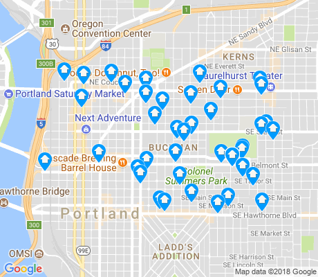 map of Buckman apartments for rent