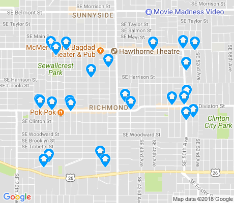 map of Richmond apartments for rent