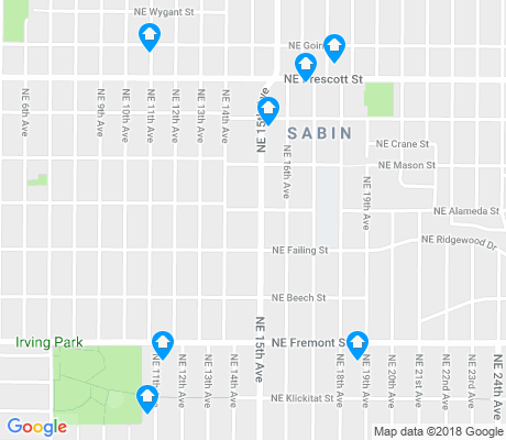 map of Sabin apartments for rent