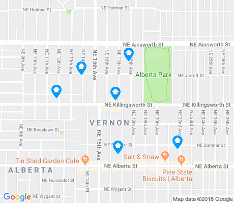 map of Vernon apartments for rent