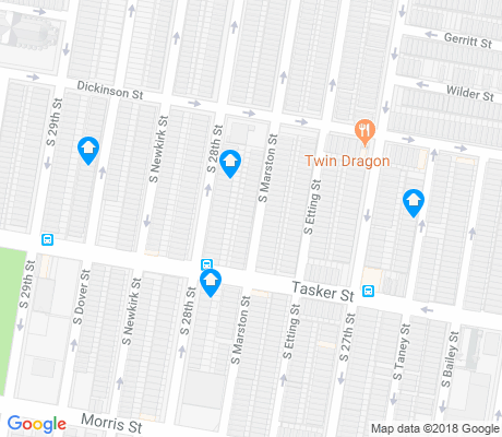 map of Grays Ferry apartments for rent