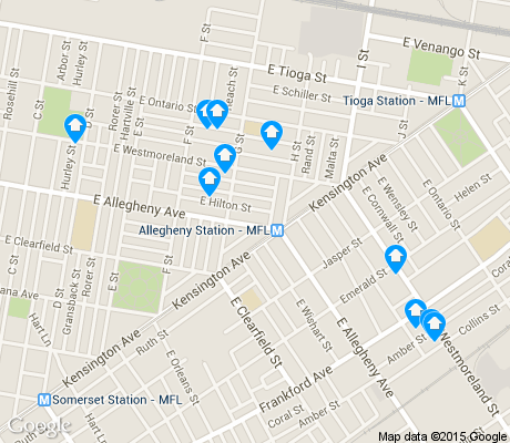 map of Harrowgate apartments for rent