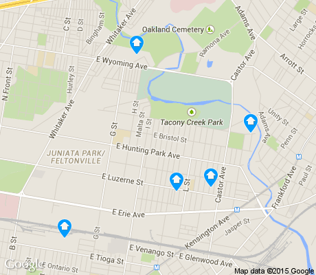 map of Juniata Park/Feltonville apartments for rent