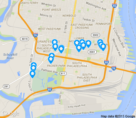 map of Marconi Plaza/Packer Park apartments for rent