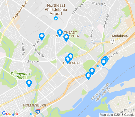 map of Torresdale apartments for rent
