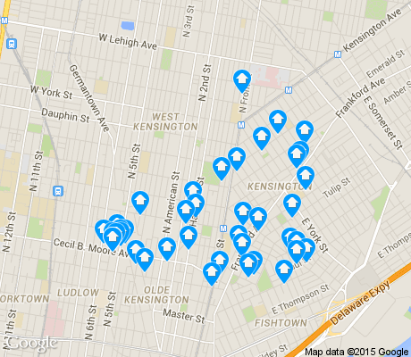 map of West Kensington apartments for rent