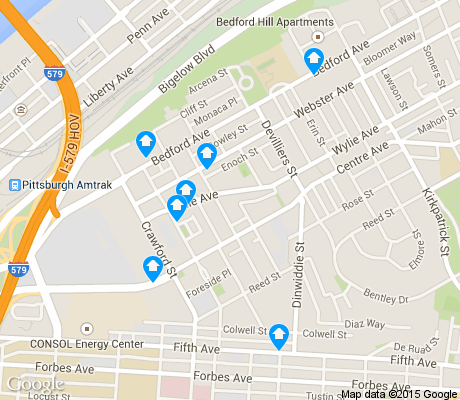 map of Crawford Roberts apartments for rent