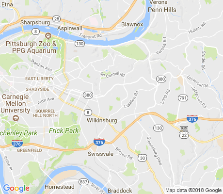 map of East Hills apartments for rent