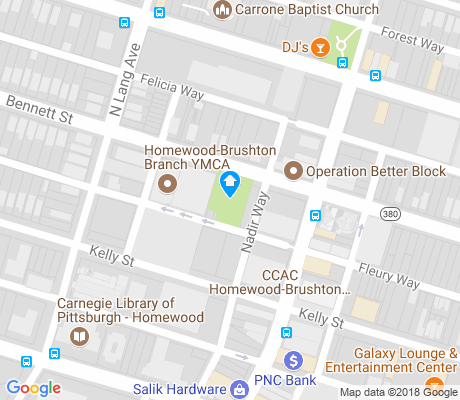 map of Homewood North apartments for rent