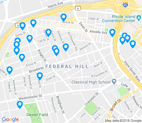 map of Federal Hill apartments for rent