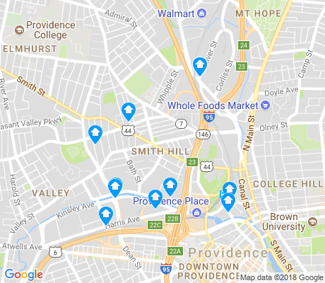 map of Smith Hill apartments for rent