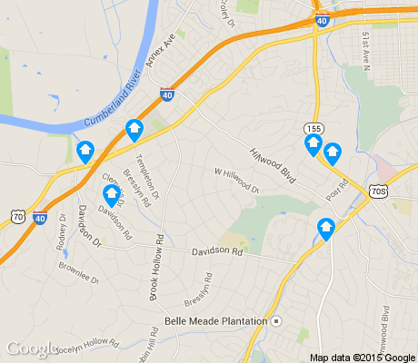 map of Hillwood Estates apartments for rent