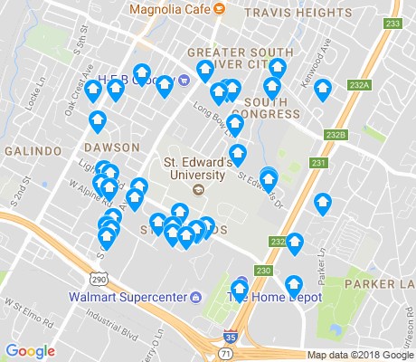 map of St. Edwards apartments for rent